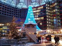 Рождество в Sony Center. Берлин. Германия