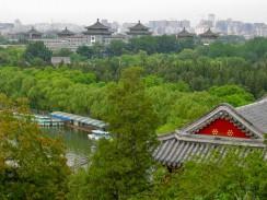 Китай. Пекин. Вид с горы в парке Бэйхай.