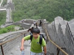 Подъем на Великую Китайскую стену.