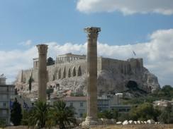 Вид на Акрополь. Афины. Греция.