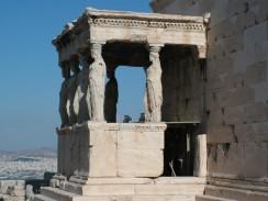 Греция. Афины. Акрополь. Портик с кариатидами у храма Эрехтейон