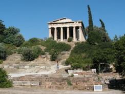 Греция. Афины. Храм, посвященный Гефесту у подножия Акрополя.