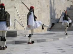 Греция. Афины. Площадь Синтагма. Смена караула