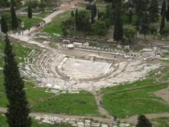Греция. Афины. Развалины театра Диониса.