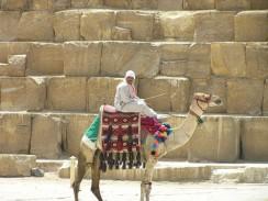 Египет. Каир. Посидеть или прокатиться на верблюде  можно бесплатно. А вот слезть - только за деньги.