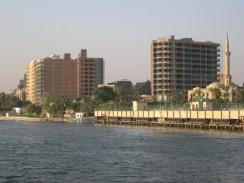 Египет. Каир современный. Нил — одна из величайших по протяженности рек в мире.