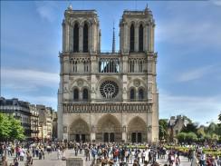 Франция. Париж. Собор Парижской Богоматери.
