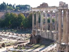 Италия. Римский форум. Храм Сатурна.