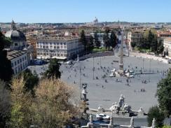 Италия. Рим. Пьяцца дель Пополо — «народная площадь»