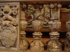 Убранство собора св. Петра в Ватикане. Рим. Италия.