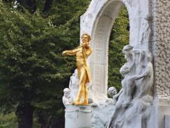 Австрия. Вена. Памятник Иоганну Штраусу