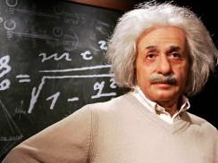 Восковая фигура Альберта Энштейна в музее мадам Тюссо. Лондон. Англия.