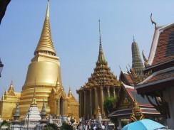 Буддийская пагода — золотая чеди Пхра Си Раттана. Бангкок. Таиланд.