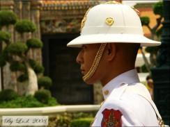 Таиланд. Бангкок. Гвардеец почетного караула у здания Большого Королевского дворца.