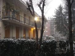 Италия. Новогодний снег в Милане.
