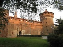 Италия. Замок Сфорца — бывшая резиденция миланских герцогов династии Сфорца.