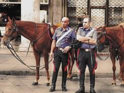 Италия. Конная полиция Милана.