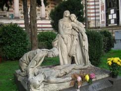 Кладбище Monumentale. Милан. Италия