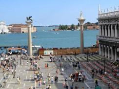 Италия. Венеция. Колонны св. Марка (Крылатый лев) и св. Феодора Тирона