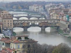 Италия. Флоренция. Река Арно.