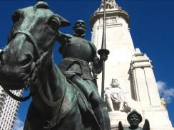 Испания. Мадрид. Памятник Сервантесу