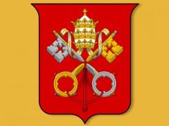 Герб Ватикана. Рим. Италия
