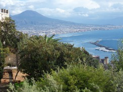 Италия. Вид на побережье Неаполя с монастыря Чертоза ди Сан Мартино