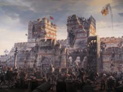 Турция. Стамбул. Исторический музей 1453 год. Фрагмент панорамы взятия Константинополя.