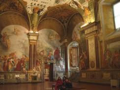 Зал Палатинской галереи. Дворец Палаццо Питти. Флоренция. Италия