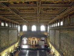 «Салона пятисот» в Палаццо Веккьо. Флоренция. Италия