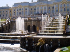 Россия. Санкт-Петербург. Фонтаны Петродворца