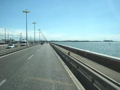 Мост делла Либерта на пути к Венеции. Италия.