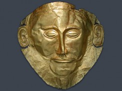 «Маска Агамемнона». Национальный археологический музей. Афины Греция