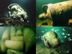 Предметы, найденный в акватории Александрии. Египет