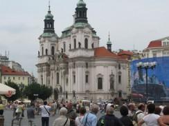 Чехия. Прага. Церковь святого Микулаша на Староместской площади.