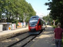 Пригородный поезд в Вене. Австрия.