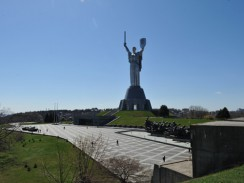 Украина. Киев. Памятник Родине-матери в музее истории Великой Отечественной войны